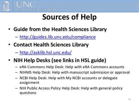 nih it help desk the nih public access policy and compliance requirements