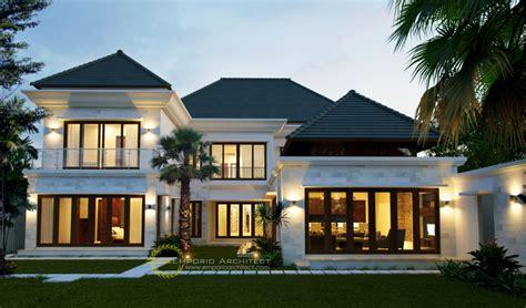desain rumah mewah klasik tropis  jakarta
