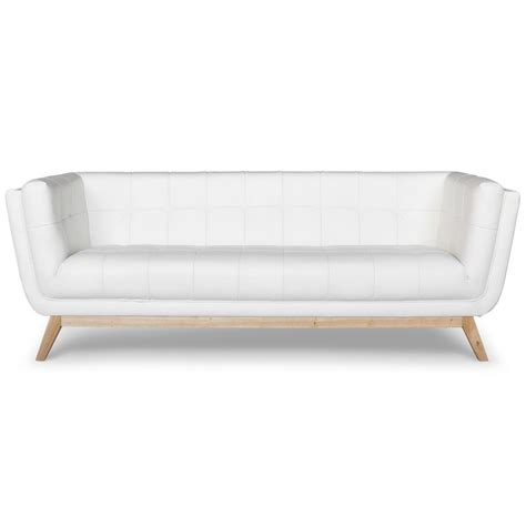 canap 233 scandinave 3 places design blanc pas cher d 233 co