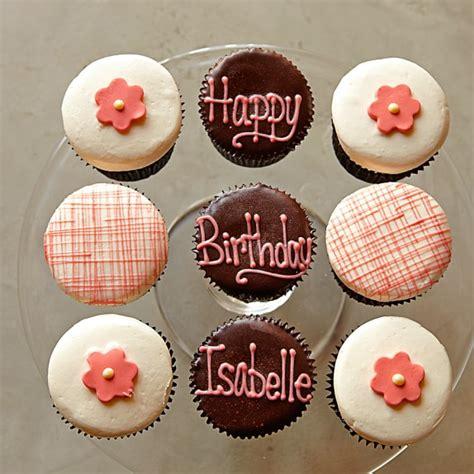 personalized birthday cupcakes   set   williams sonoma