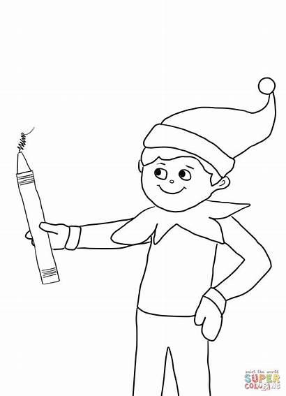 Coloring Elf Shelf Reindeer Popular
