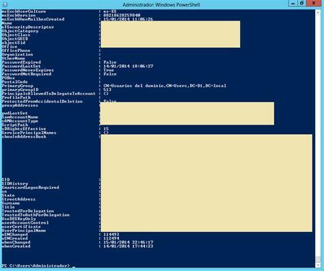active directory mostrar todas las propiedades de