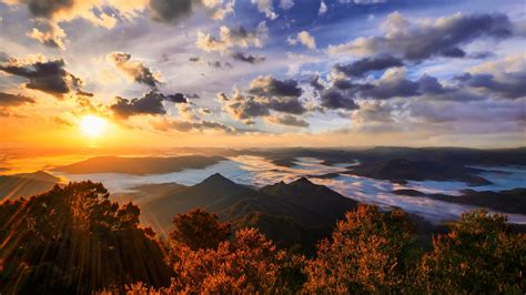 Nature, Mountain, Sunset, Landscape, Trees, Forest