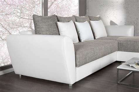 canape convertible blanc photos canapé d 39 angle convertible gris et blanc