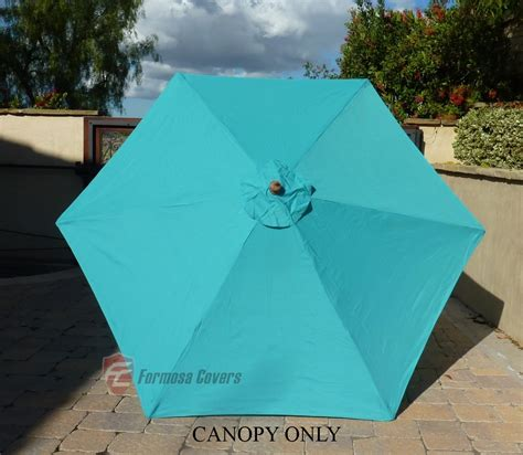 9ft patio umbrella replacement cover canopy 6 ribs turquoise