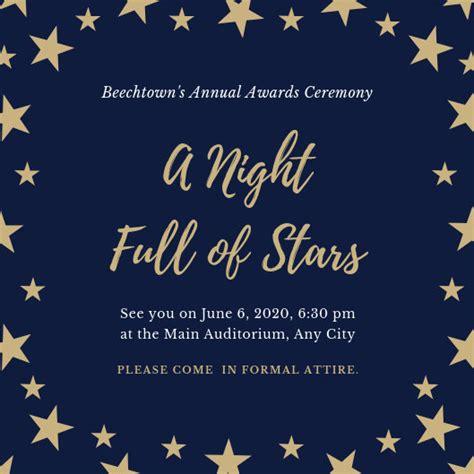 customize  awards night invitation templates