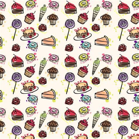 Kuchen Muster by Kuchen Muster Gezeichnet Der Kostenlosen
