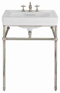lovely traditional bathroom sinks Lutezia 28 Inch Console Lavatory Sink by Porcher - Traditional - Bathroom Sinks - by Vintage Tub ...