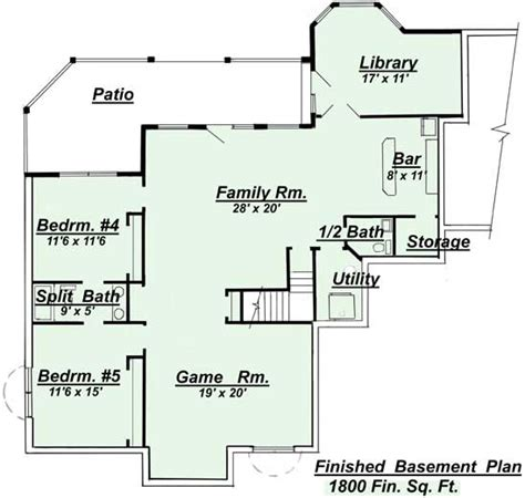 house plans with finished walkout basements house plans with finished basement smalltowndjs com