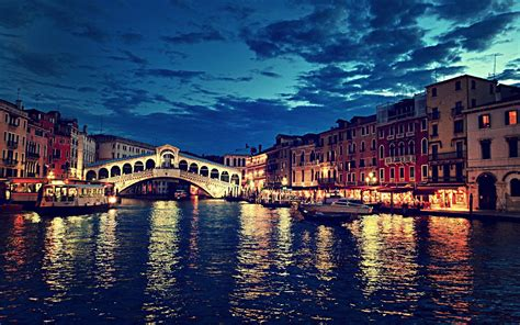 Italy Landscape Venice Boat City House Building