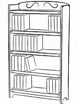 Bookcase Drawing Bookshelf Draw Coloring Pages Shelf Drawings Bookshelves Books Library Clipart Easy Simple Printable Tocolor Step Clip Paintingvalley Journal sketch template
