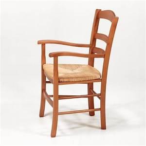 Chaise de cuisine en bois avec accoudoir chaise idees for Deco cuisine avec chaise en promo