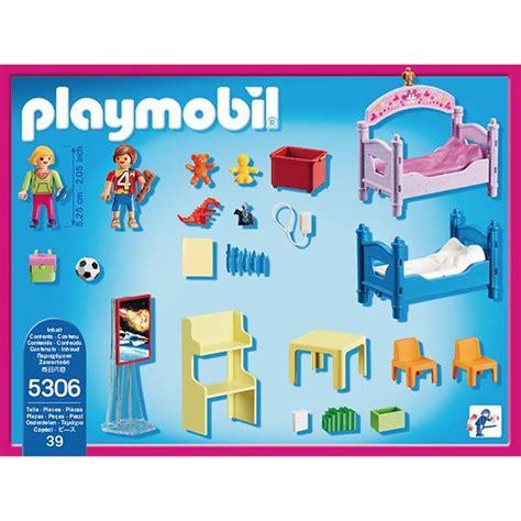 playmobile cuisine chambre d 39 enfants avec lits superposés playmobil 5306