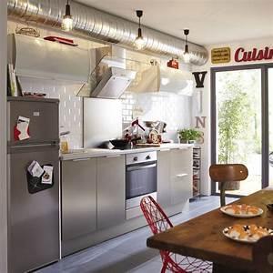 Barre Ustensiles Cuisine Leroy Merlin : meuble de cuisine d cor aluminium delinia stil leroy merlin ~ Melissatoandfro.com Idées de Décoration