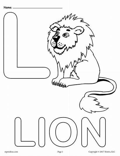 Letter Coloring Pages Alphabet Printable Lion Letters