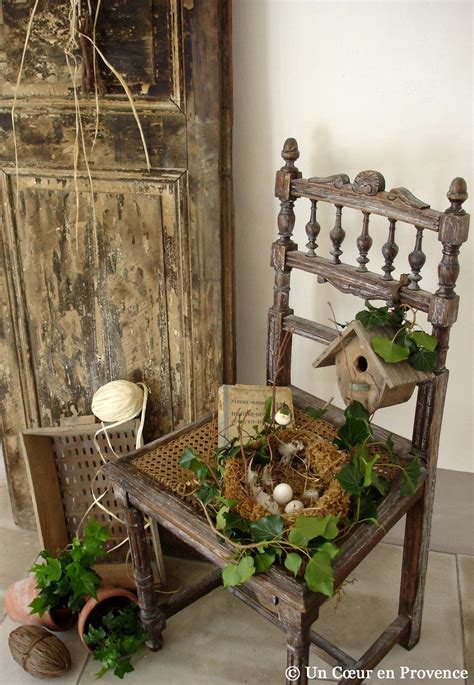 Easter Spring Vignette With Chair Disclaimer Not