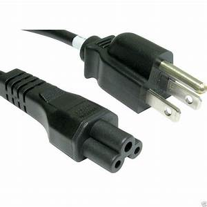Power Cord  Usa 3 Pin Plug To C5 Clover Leaf