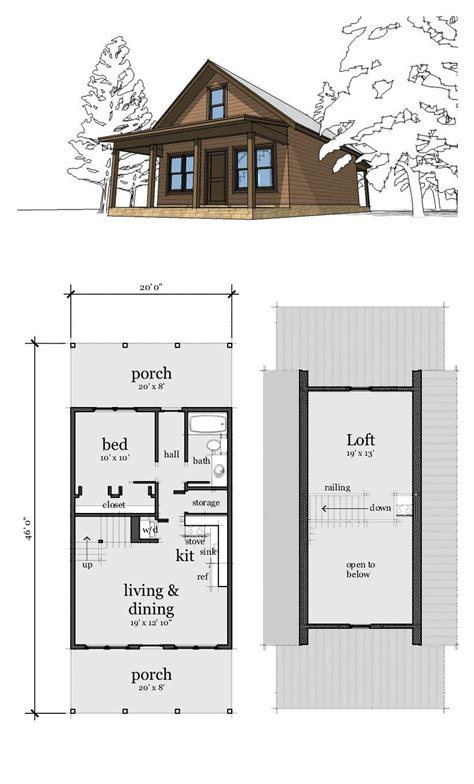 cabin style house plan number    bed  bath
