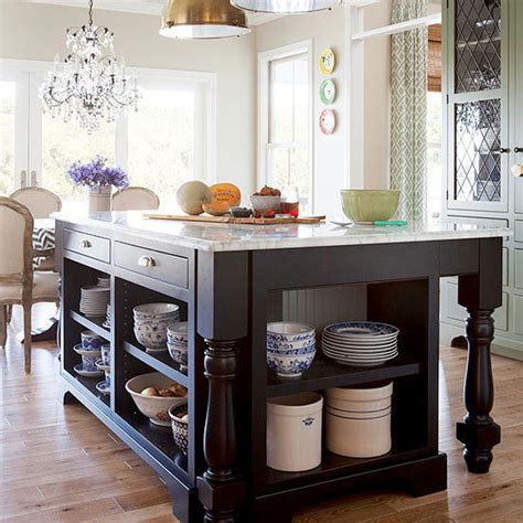 kitchen open storage 55 great ideas for kitchen islands the popular home 2351