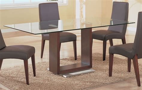 dining room simple rectangle glass top tables with wood