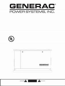 Generac 005251  005252  005253  005254  005255 Installation