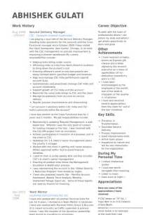 service delivery manager resume sles visualcv resume