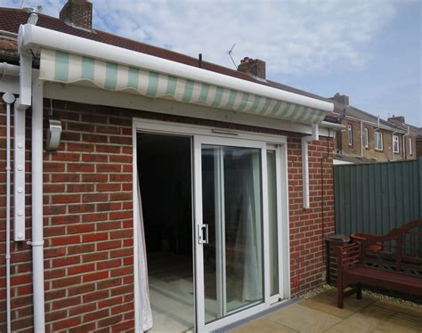 electric patio awning fitted  portsmouth awningsouth