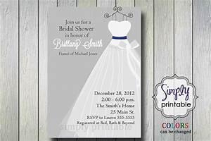 items similar to silver wedding dress bridal shower With wedding dress bridal shower invitations