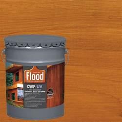 flood 5 gal cedar tone cwf uv based exterior wood finish fld520 05 the home depot