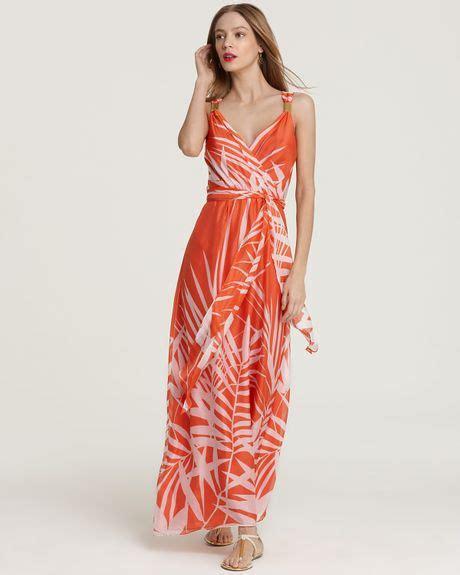lyst splendid maxi dress milly dress palm print maxi dress in orange
