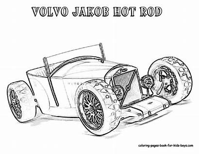 Coloring Pages Cars Rod Classic American Rat