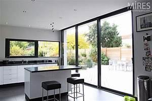 baie vitree alu gris grandes largeurs With porte de garage coulissante jumelé avec ouverture de porte paris 6