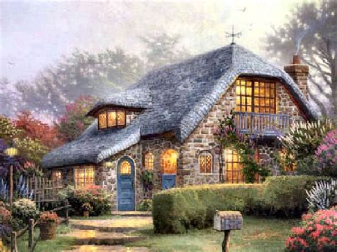 Kinkade Cottage by Lilac Cottage By Kinkade Paintings I Like