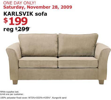 black friday sofa deals black friday deal karlsvik sofa saturday only