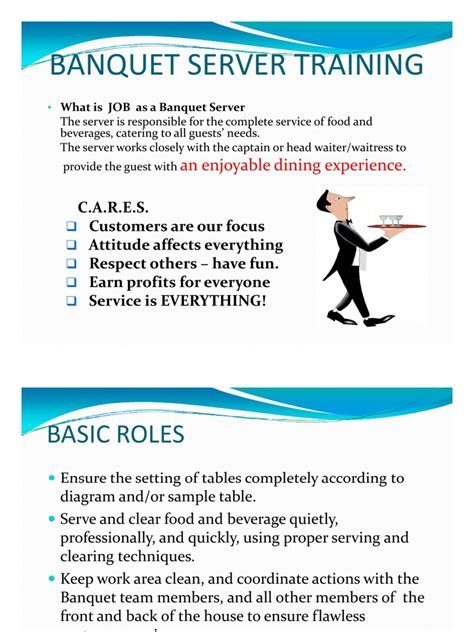 banquet server basic skill training