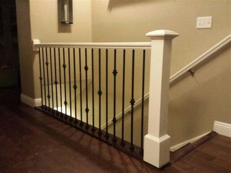 Antique White Railing And Post With Black Iron Balusters That We Built In A Home In Salt Lake Antique Upright Piano Brands Olympia Fine Art And Antiques Fair June Archaeology Leclaire Iowa Danielle Mall El Paso Illinois Le Bain White Towel Rack Wood Fireplace Surrounds French London Uk Colonial Woodstock