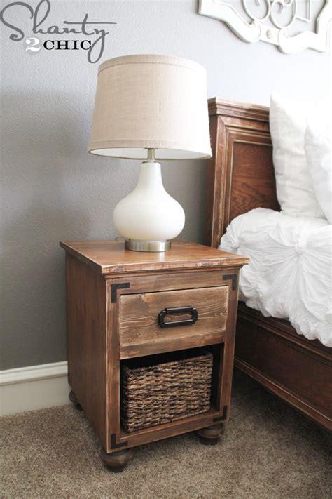 diy nightstand  bun feet shanty  chic
