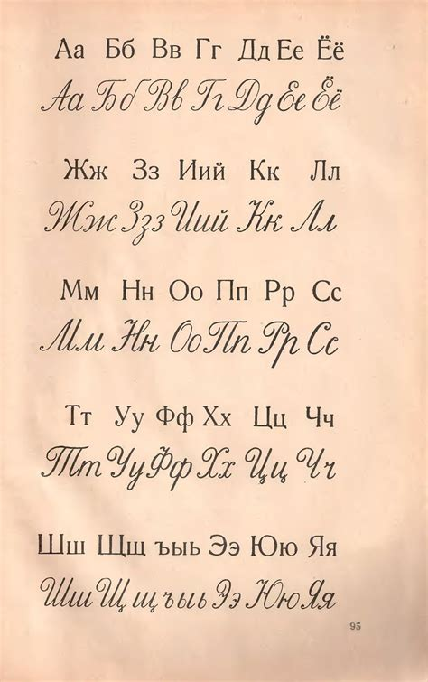 Russian Cursive From A Soviet Era Alphabet Book Size Could Be Better, But Will Do For A Small