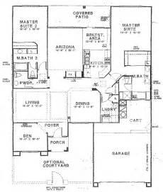 floor plans with two master suites sun city vistoso floor plan hton model floor plan