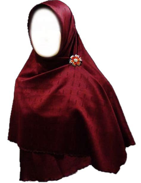 Krudung Merah jilbab segi 4 polos merah hati afifah collection