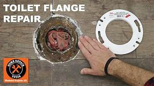 Toilet Flange Repair Using A Toilet Flange Extender  Step