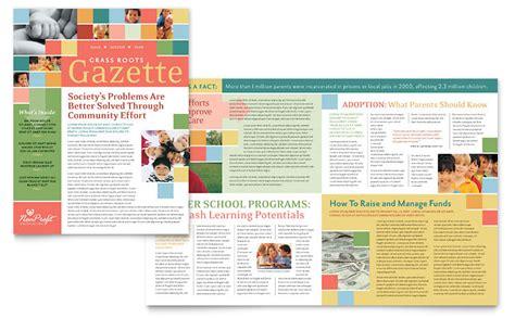 microsoft publisher newsletter templates non profit association for children newsletter template word publisher