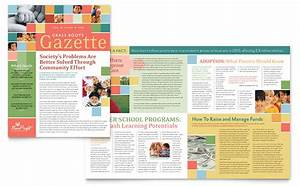 newsletter layout templates free download - non profit association for children newsletter template