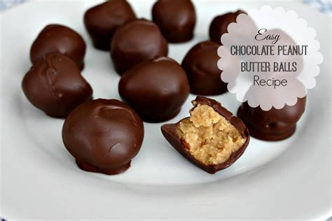 peanut butter balls easy chocolate peanut butter balls recipe