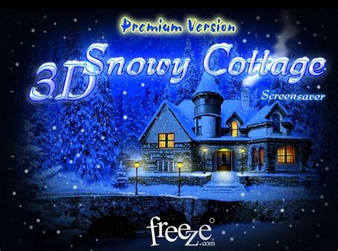 3d Snowy Cottage Animated Wallpaper Free - 3d snowy cottage screensaver pictures to pin on