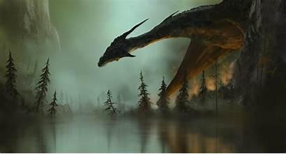 Dragon Dragons Fantasy Digital Wings Fire Deviantart
