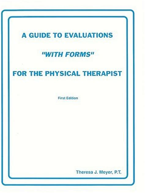 physical therapy evaluation form physical therapy evaluation form