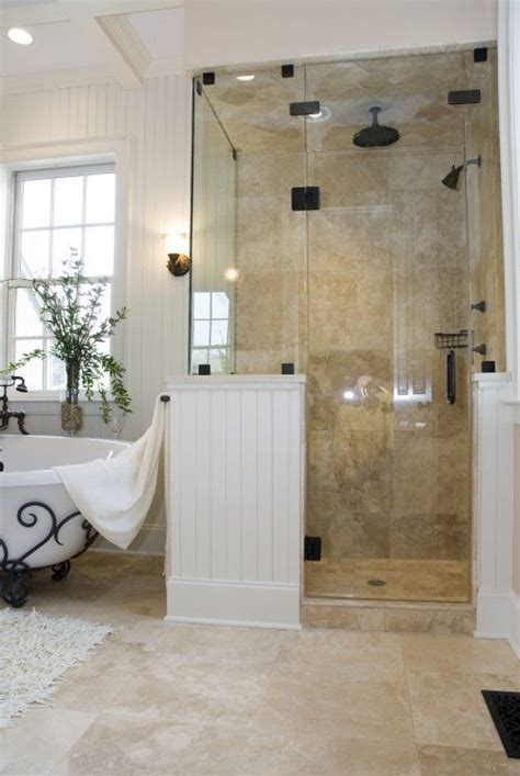 steam shower white wood tile wc