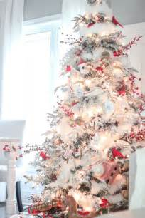 26 best flocked christmas tree d 233 cor ideas digsdigs