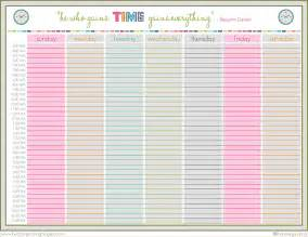 Printable Weekly Schedule Template